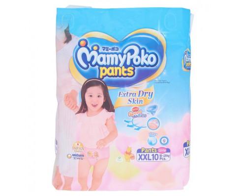 Детские подгузники-трусики для девочек XXL MamyPoko Pants 10 шт