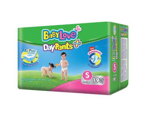 Детские подгузники-трусики для малышей весом 4-8 кг Baby Love DayPants 19 шт