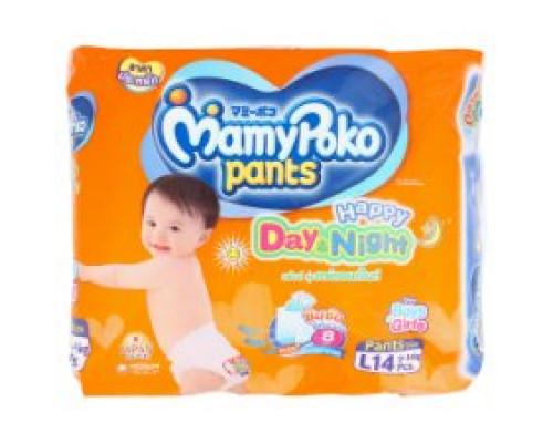 Детские подгузники-трусики День и Ночь размер L MamyPoko Pants 14 шт