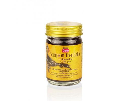 Черный тайский бальзам Скорпион 50 гр