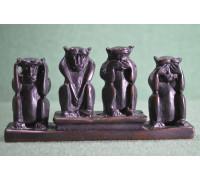 Статуэтка со смыслом «Четыре обезьяны»