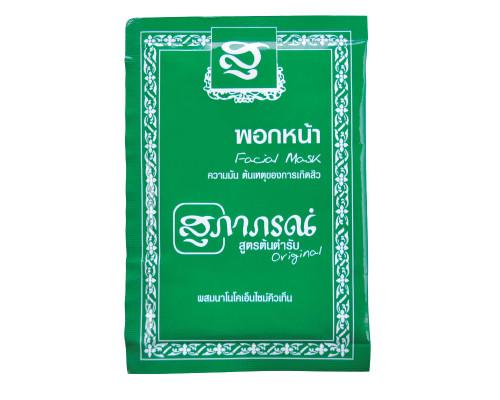 Маска для лица с зеленым чаем и коэнзимом Q10 Supaporn 15 гр