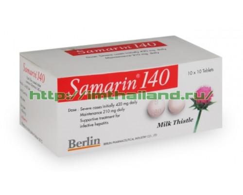 Гепатопротектор Самарин 140 мг – очищение, лечение и защита печени, 100 таблеток