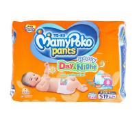 Детские подгузники-трусики День и Ночь размер S MamyPoko Pants 19 шт