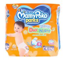 Детские подгузники-трусики День и Ночь размер L MamyPoko Pants 13 шт