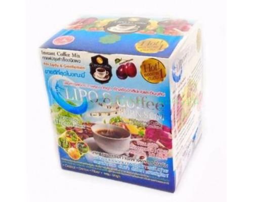 Кофе для снижения веса Lipo 8 10 пакетиков