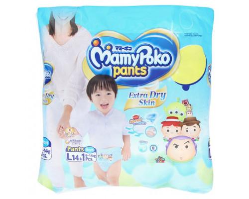 Детские подгузники-трусики для мальчиков L MamyPoko Pants 15 шт