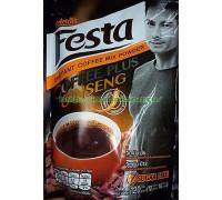 Кофе растворимый Festa 120 грамм с экстрактом женьшеня без сахара