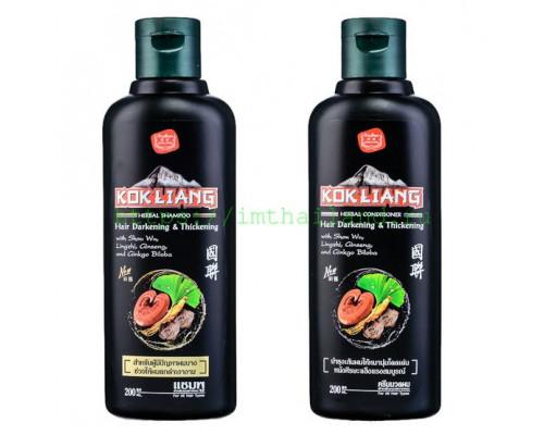 Безсульфатный шампунь для темных волос Kokliang 200 мл