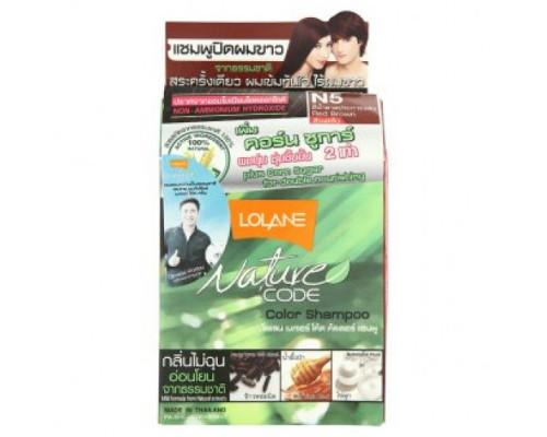 Безаммиачный оттеночный шампунь для волос Lolane цвет Красно-Коричневый