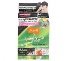 Безаммиачный оттеночный шампунь для волос  Lolane Натуральный черный цвет