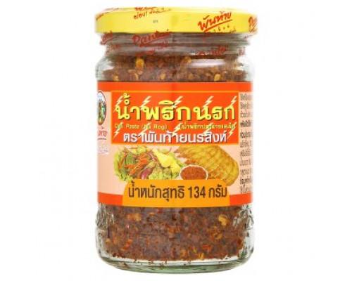 Тайская чили паста Нам Прик Pantai для риса и овощей - адская острота 134 грамм
