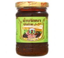 Тайская чили паста минимальной остроты Нам Прик Пао Pantai для супа Том Ям с соевым маслом 227 грамм