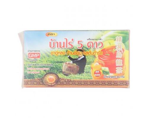 Оригинальный тайский зеленый чай Улонг 25 пакетиков