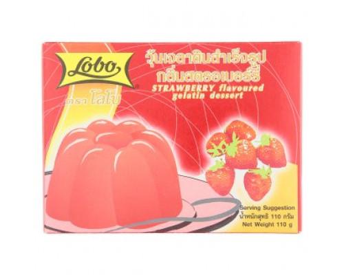 Десерт из клубники - желе Lobo 110 грамм