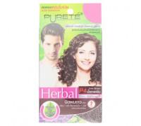 Травяной оттеночный шампунь для блеска волос цвет Темно-Коричневый