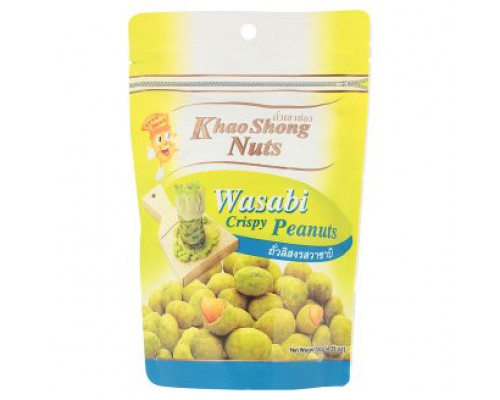 Хрустящий арахис с васаби Khao Shong 120 грамм