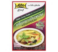 Зеленый карри паста с кокосовыми сливками Lobo 100гр