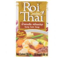 Готовый тайский суп Канг Сом карри с морепродуктами и рыбой Roi Thai 250 мл