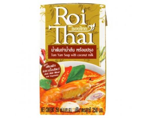 Готовая основа для тайского супа Том Ям на кокосовом молоке Roi Thai 250 мл