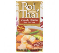 Готовый тайский суп Канг Сом карри с морепродуктами и рыбой Roi Thai 500 мл