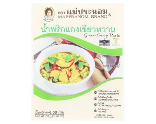 Зеленый Карри паста Mae Pranom 50 грамм