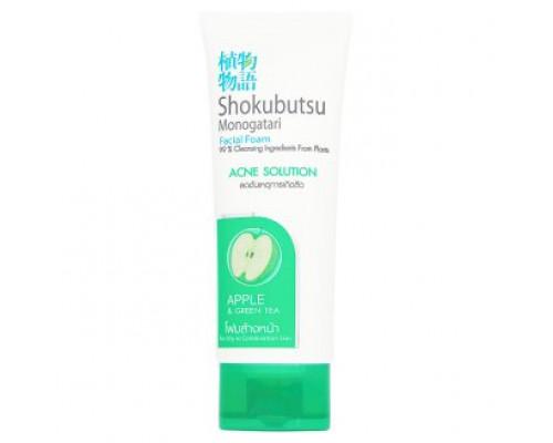 Пенка для умывания для комбинированной кожи против прыщей Shokubutsu 100гр