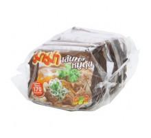 Суп с рисовой лапшой и свининой со специями быстрого приготовления брикет 50 грамм х 6 шт