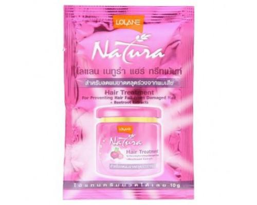 Витаминная маска против выпадения волос с экстрактом свеклы Lolane пробник 10 грамм