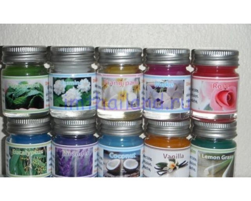 Тайские бальзамы, мини-набор из 10 разных ароматов