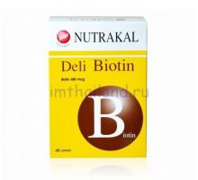 Биотин для роста и против выпадения волос 60 капсул