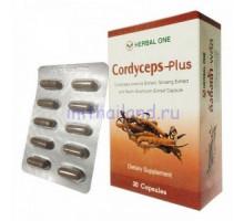 Капсулы Кордицепс плюс Cordyceps plus Herbal One 30 шт