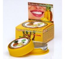 Тайская круглая зубная паста «Ананас» 25 гр