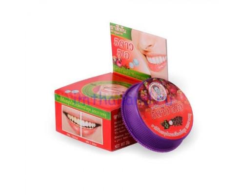 Тайская кргулая зубная паста Мангостин 25 гр