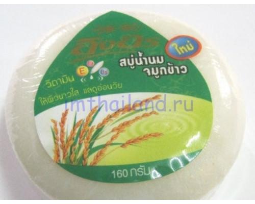 Безсульфатное мыло с рисовым и козьим молочком 160 гр