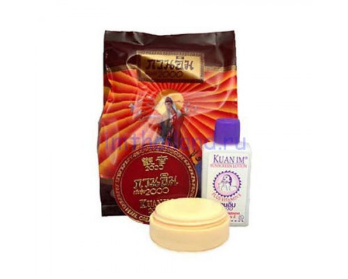 Жемчужное отбеливание: набор крем + лосьон Kuan Im