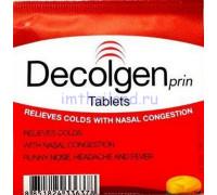 Лекарство против простуды Decolgen 4 таблетки