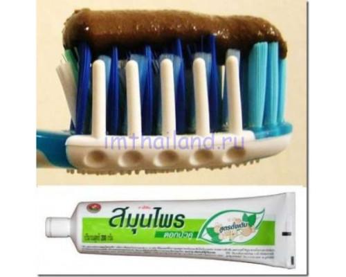 Черная тайская зубная паста Твин Лотос 150 грамм
