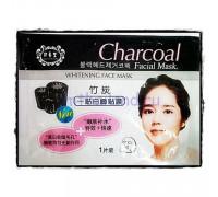 Угольная тканевая маска для лица Charcoal для сужения пор и уменьшения жирности кожи Belov 38 мл