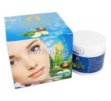 Омолаживающий увлажняющий крем для лица с экстрактом слизи улитки и огурцом Natural Herb 100мл