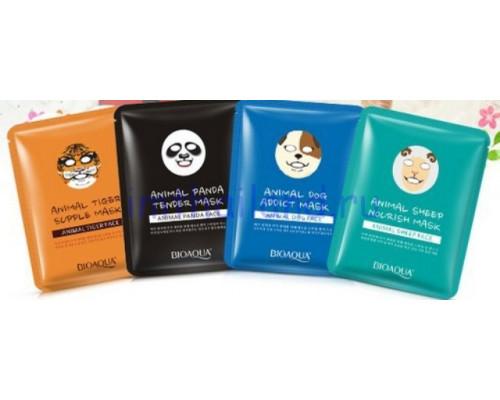 Тканевые корейские маски для лица с изображением животных