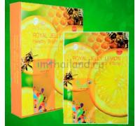 Тканевая маска для лица и шеи с маточным молочком и лимоном Belov 38гр