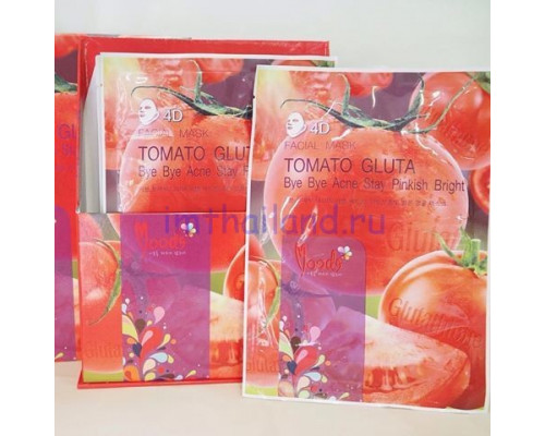 Тканевая маска для лица и шеи с томатом и глутатионом Belov 38гр